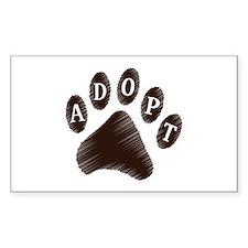 Animal Adoption Paw Decal