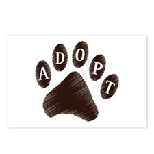Animal Adoption Paw Postcards (Package of 8)