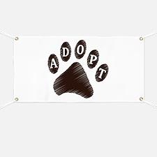 Animal Adoption Paw Banner