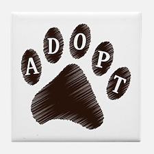 Animal Adoption Paw Tile Coaster