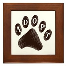 Animal Adoption Paw Framed Tile