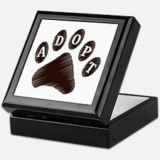 Animal Adoption Paw Keepsake Box
