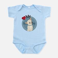 Love Good Boy Chihuahua Infant Bodysuit