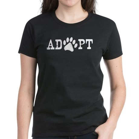 Adopt an Animal Women's Dark T-Shirt