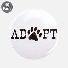 "Adopt an Animal 3.5"" Button (10 pack)"