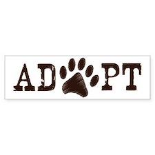 Adopt an Animal Bumper Bumper Sticker