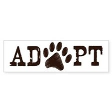 Adopt an Animal Bumper Sticker
