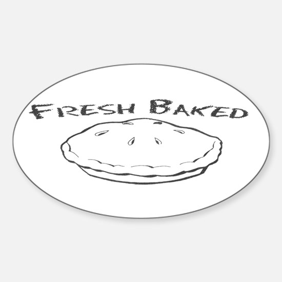 Fresh Baked Oval Decal