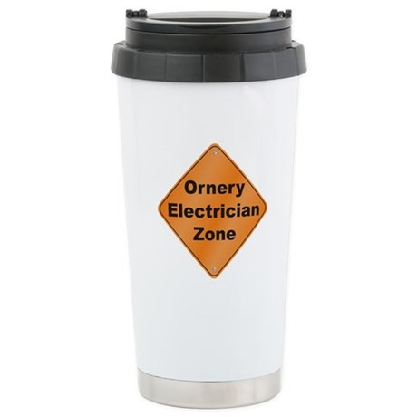 Ornery Electrician Stainless Steel Travel Mug