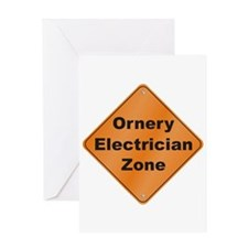 Ornery Electrician Greeting Card