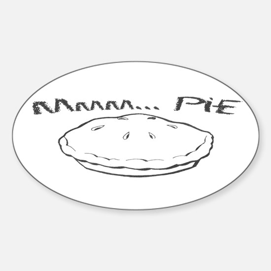Mmm... Pie Oval Decal
