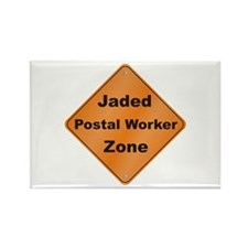 Jaded Postal Worker Rectangle Magnet