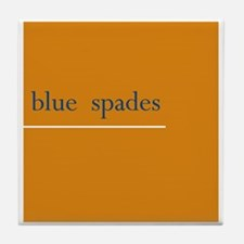 Blue Spades Tile Coaster