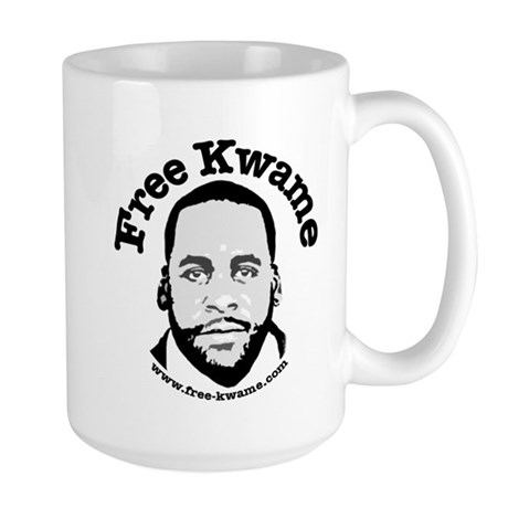 Free Kwame - Round Mugs