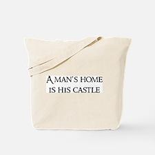 A man's home Tote Bag