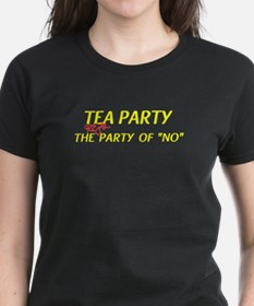 Tea Party the Real Party of No Women's Dark Tee