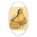 Muffed Tumbler Pigeon Oval Sticker