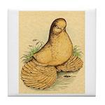 Muffed Tumbler Pigeon Tile Coaster