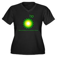 BP Oil... Spill Women's Plus Size V-Neck Dark T-Sh