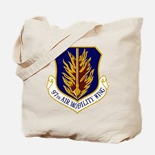 97th Air Mobility Wing Tote Bag