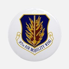 97th Air Mobility Wing Ornament (Round)
