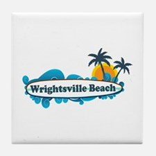 Wrightsville Beach NC - Surf Design Tile Coaster
