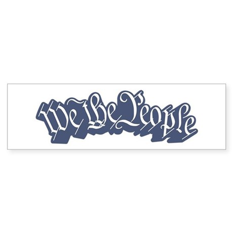 We The People (Blue) Sticker (Bumper)
