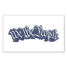 We The People (Blue) Decal