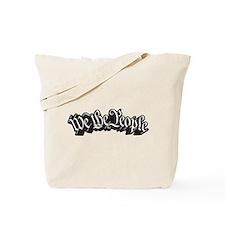 We The People (Black) Tote Bag
