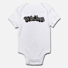 We The People (Black) Infant Bodysuit