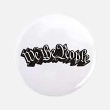 """We The People (Black) 3.5"""" Button"""
