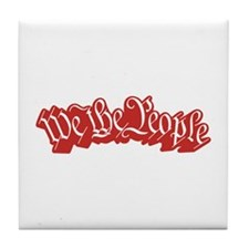 We The People (Red) Tile Coaster