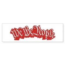 We The People (Red) Bumper Sticker