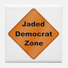 Jaded Democrat Tile Coaster