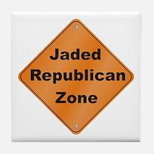 Jaded Republican Tile Coaster