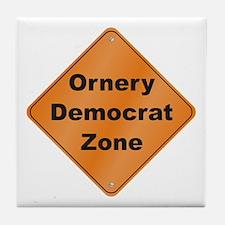 Ornery Democrat Tile Coaster