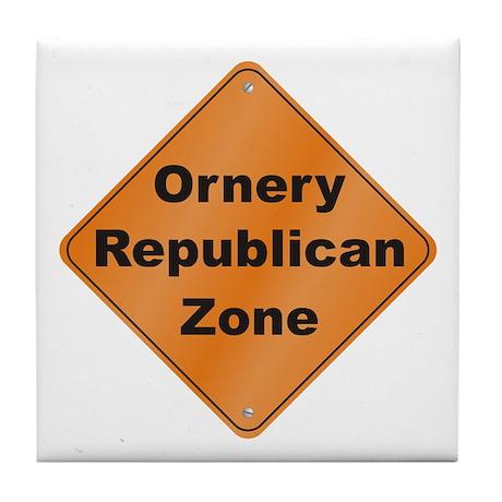 Ornery Republican Tile Coaster
