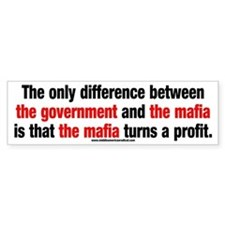 Government vs. The Mafia Car Sticker