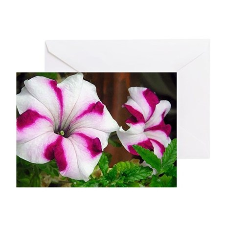 Purple Petunias Greeting Cards (Pk of 10)