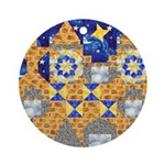 Blue Castle Ornament (Round)