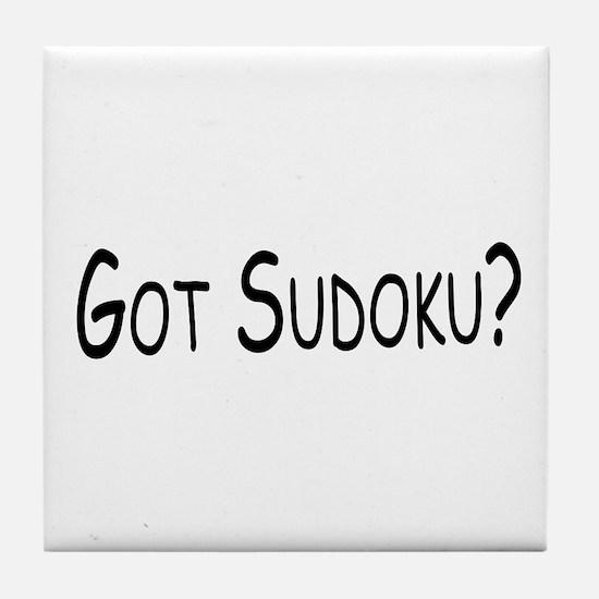 Got Sudoku  Tile Coaster