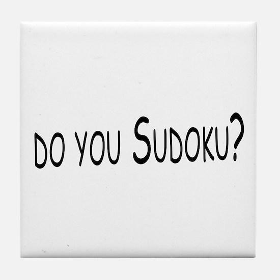 Do You Sudoku Tile Coaster