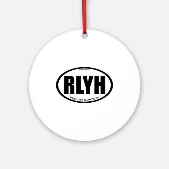 R'lyeh auto badge Lovecraft Ornament (Round)