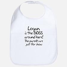 Logan is the Boss Bib