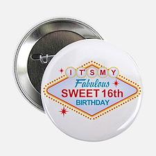 "Las Vegas Birthday 16 2.25"" Button"