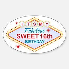 Las Vegas Birthday 16 Decal
