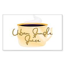 Urban Jungle Juice Coffee Des Sticker (Rectangular