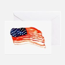 baconflag Greeting Cards