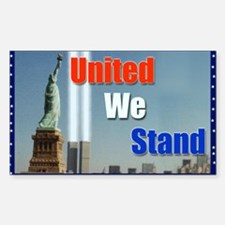 United we Stand Sticker (Rectangle)