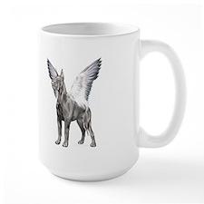 Great Dane Angel Black Mug